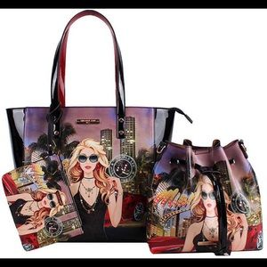 👜BRAND NEW👜Nicole Lee's 3In 1ChicDesignShopper👜